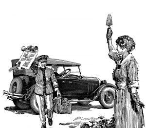 Pasażer wysiadający z automobilu
