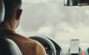 Taksówkarz podczas zmiany