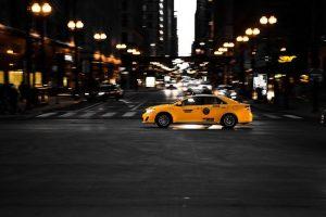 Nowojorska taxi nocą
