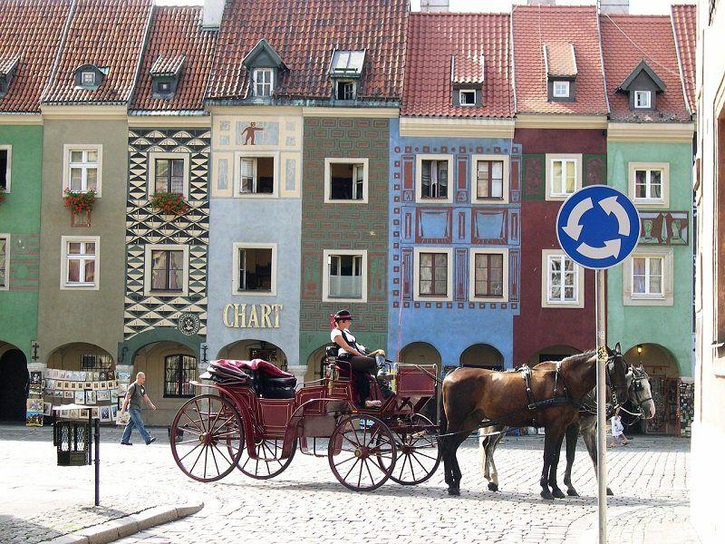 Kamienice na rynku w Poznaniu